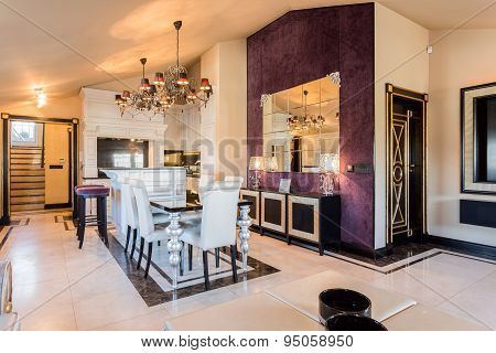 Dining Room In Baroque House