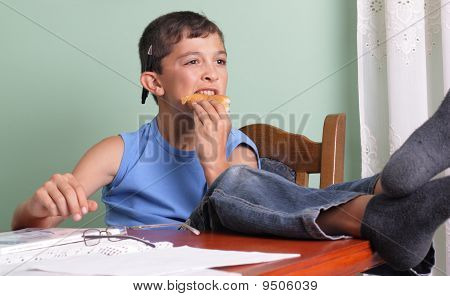 Boy And Food
