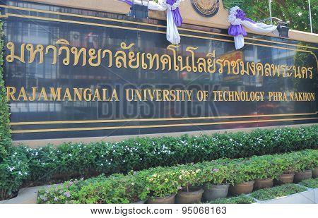 Rajamangala University of Technology Bangkok Thailand
