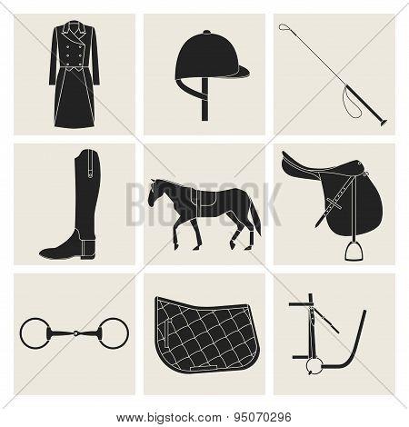 Black Equestrian Icons
