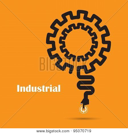 Industrial Concept.creative Industrial Abstract Vector Logo Design Template.