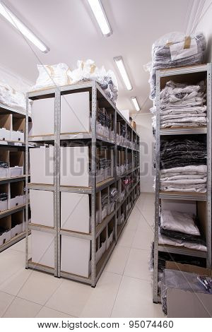 Stillages In The Storeroom