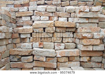 stack of old bricks