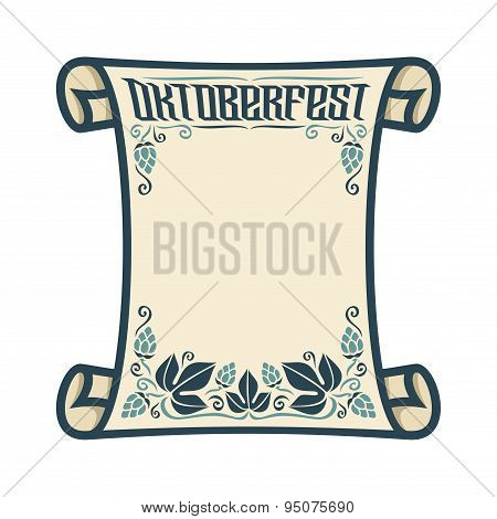 Background image for text on the theme of Oktoberfest