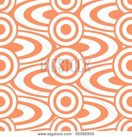 Cheerful Abstract Seamless Print Of Circles And Rings