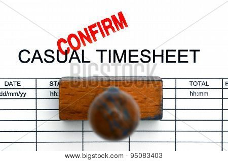 Casual Timesheet Confirm