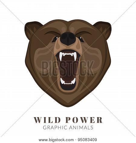 Screaming bear
