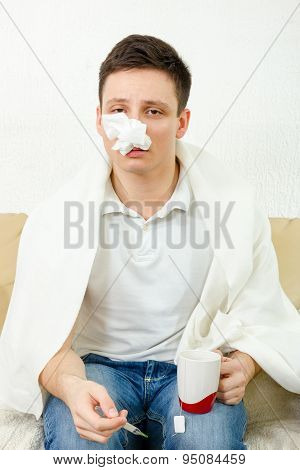 Young Adult Man Get Caught By Virus Epidemic