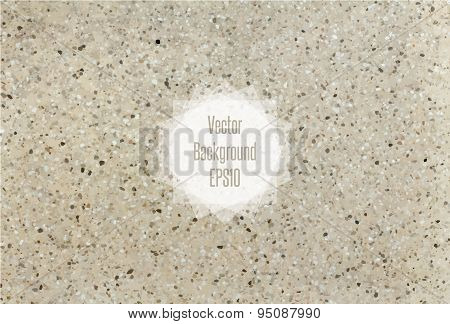 Flecked stone texture in beige and blown colors. Vector illustration EPS10.