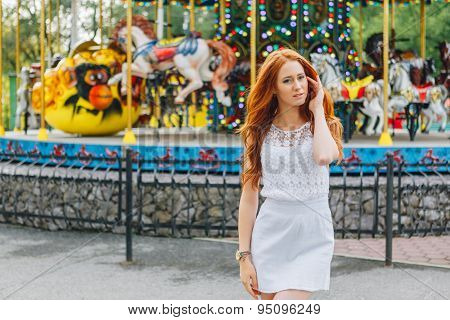 Beautiful red hair girl