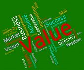 Value Words Showing Quality Control And Valued poster