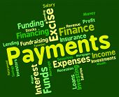 Payments Word Meaning Amount Remittances And Payable poster