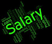 Salary Word Representing Pay Salaries And Employees poster