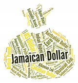 Jamaican Dollar Meaning Foreign Exchange And Wordcloud poster
