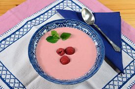 Raspberry Cream Soup