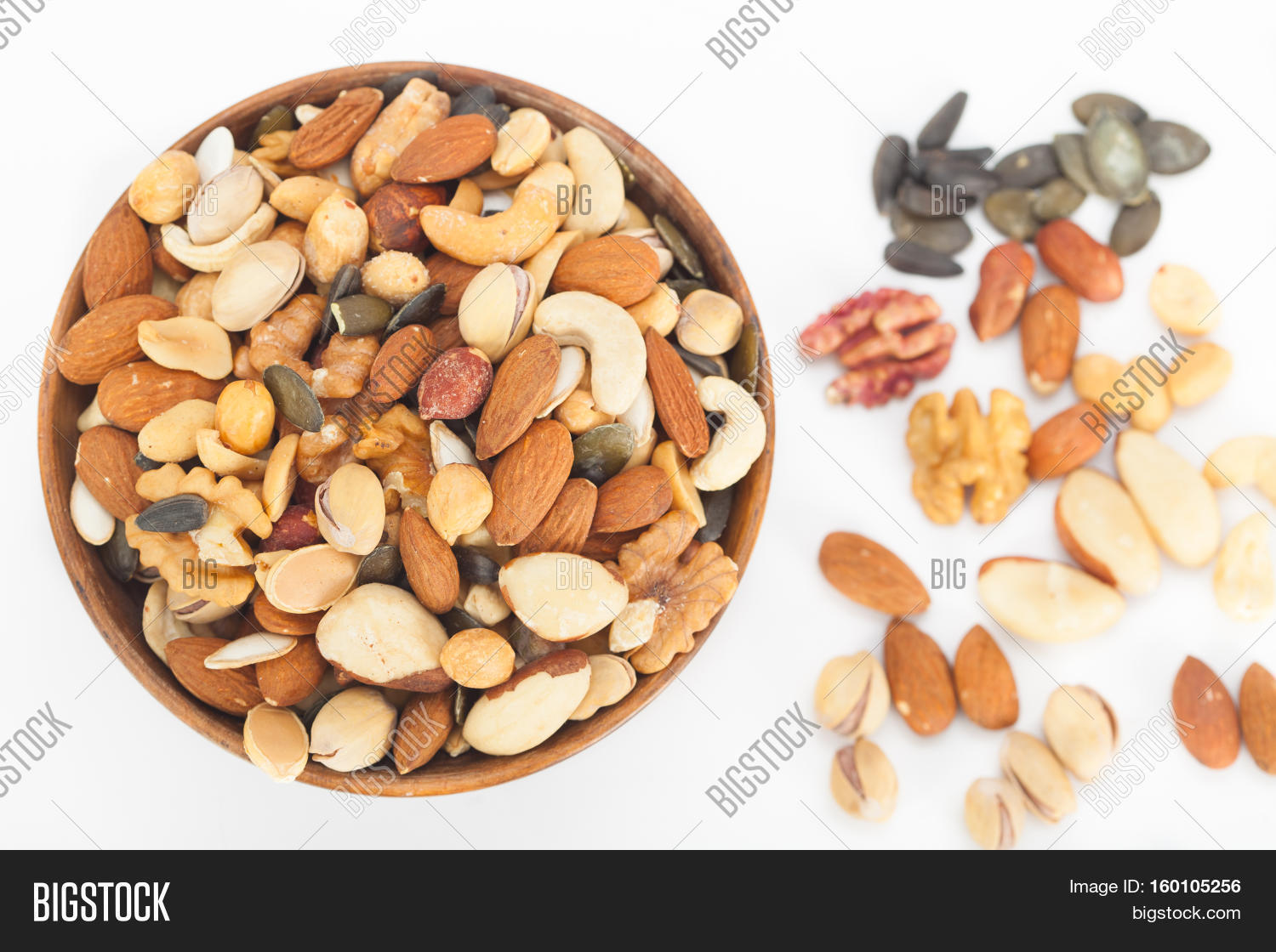Mixed Nuts Top View: Image & Photo (Free Trial)   Bigstock