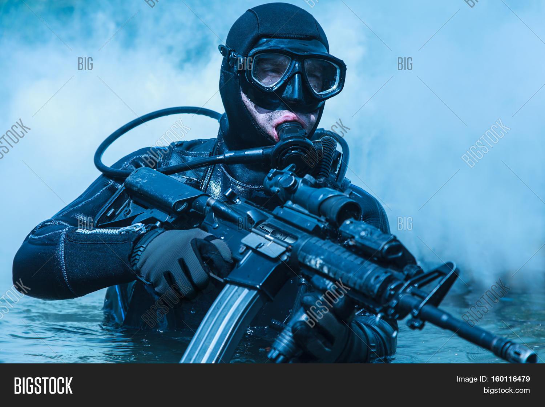 Navy seal frogman image photo free trial bigstock - Navy seal dive gear ...