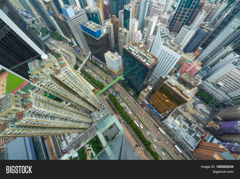 Skyscrapers, Buildings, Road Hong Image & Photo