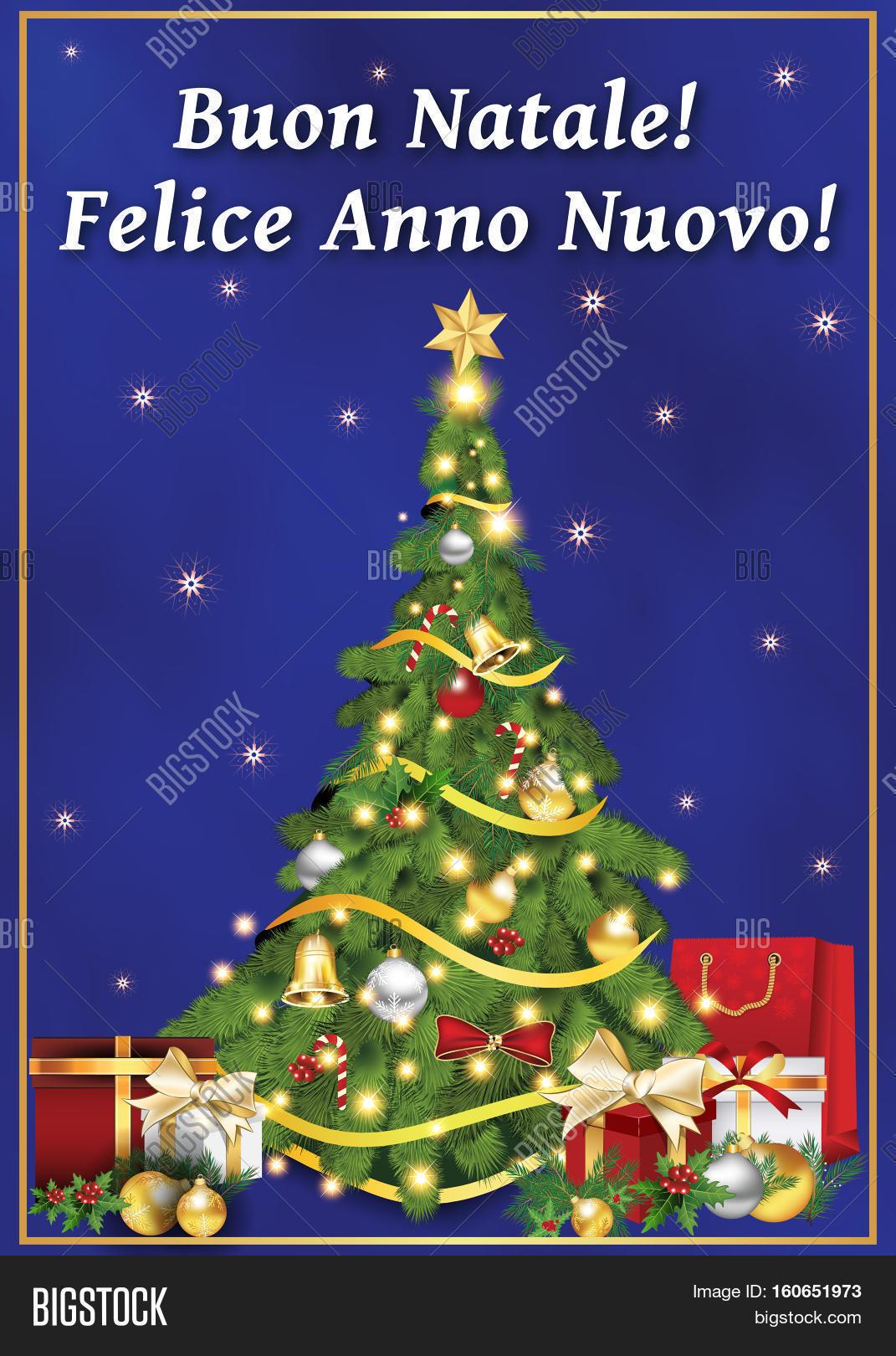 Buon Natale E Felice Image Photo Free Trial Bigstock