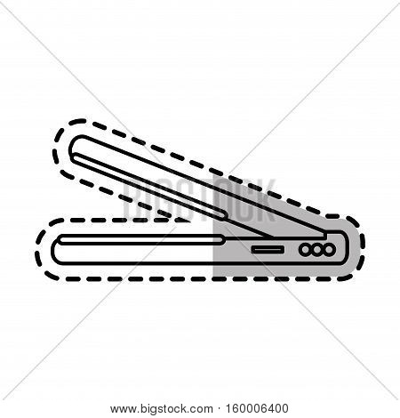 Hair iron icon. Hair salon supply utensil and barbershop theme. Isolated design. Vector illustration