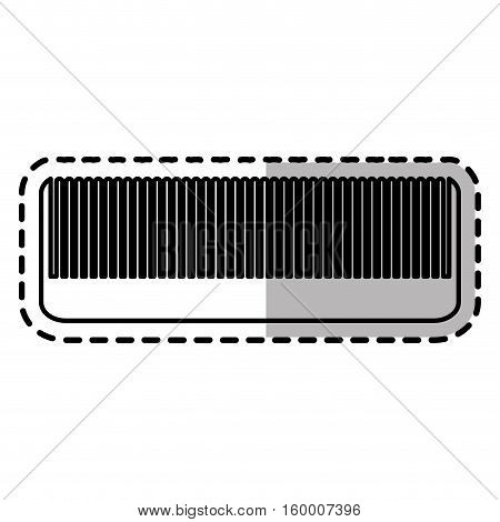 Comb icon. Hair salon supply utensil and barbershop theme. Isolated design. Vector illustration
