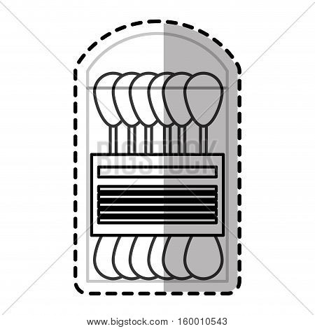 Cotton swab icon. Medical health care hospital and emergency theme. Isolated design. Vector illustration