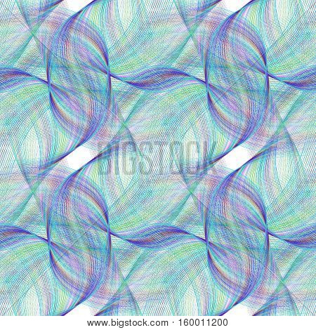 Seamless abstract computer generated fractal pattern design