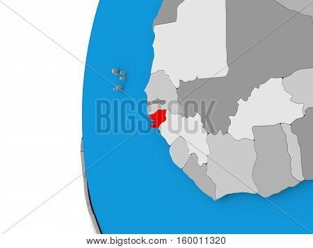 Guinea-bissau On Globe