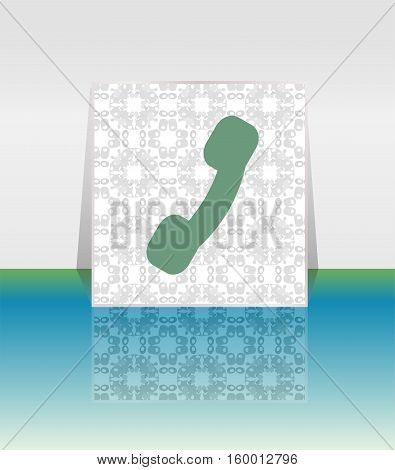 Flat Icon Of A Phone, Handset Icon Button. Phone Icon