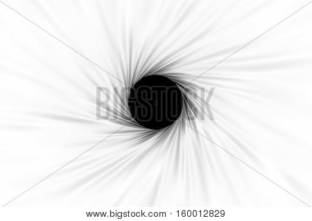 black hole foramen white background 3d illustration