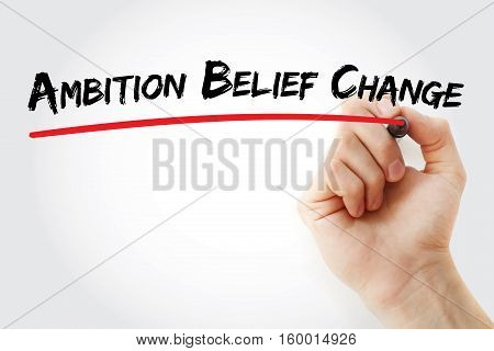 Hand Writing Ambition Belief Change