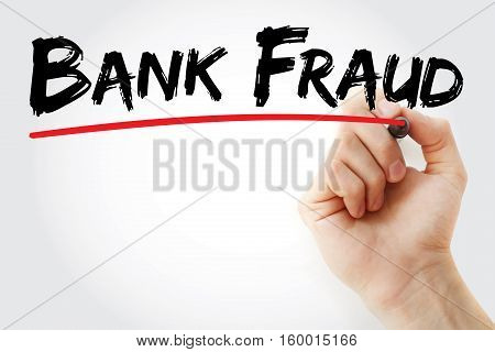 Hand Writing Bank Fraud With Marker