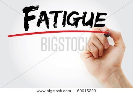 Hand Writing Fatigue With Marker