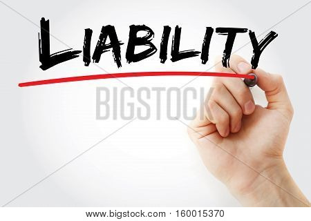 Hand Writing Liability With Marker