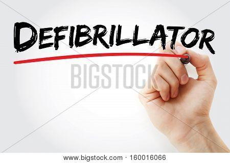 Hand Writing Defibrillator With Marker