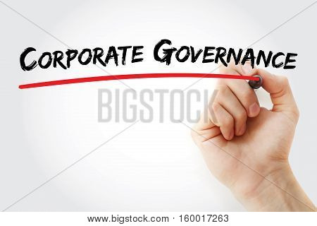 Hand Writing Corporate Governance With Marker