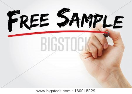 Hand Writing Free Sample With Marker