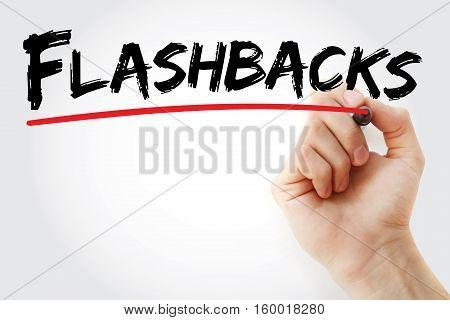 Hand Writing Flashbacks With Marker