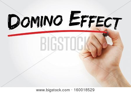 Hand Writing Domino Effect With Marker