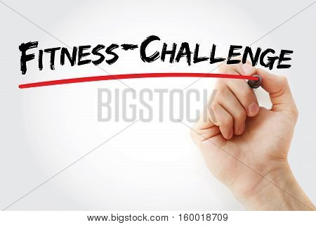 Hand Writing Fitness Challenge With Marker