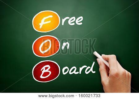 Hand Drawn Fob - Free On Board
