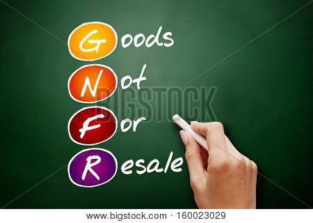 Gnfr - Goods Not For Resale, Acronym Concept