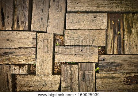 Old Wood Ground Floor Background and Backdrop