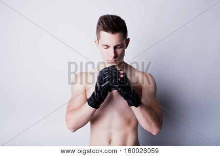Man Training Mixed Martial Arts