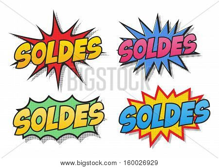 The word Soldes