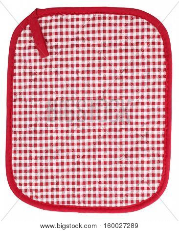 Pot holder lovely red and white plaid