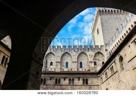 buildings in the Popes Palace in Avignon