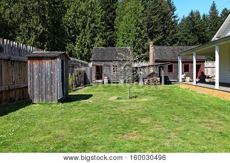 Tacoma, Wa - April 23,2011: Historical Fort Nisqually In Point Defiance Park, Tacoma