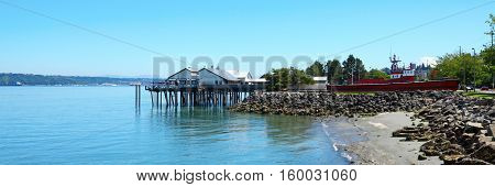 Tacoma, Pier Waterfront. Ruston Way.