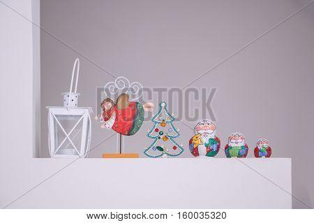 Russian Matreshka traditional with Santa Claus decoration